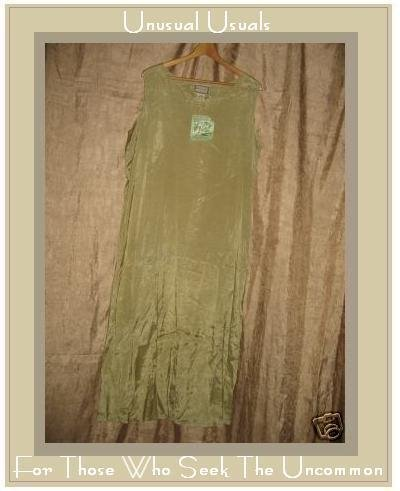 NEW April Cornell Leafy Green Rayon Slip Dress Large L