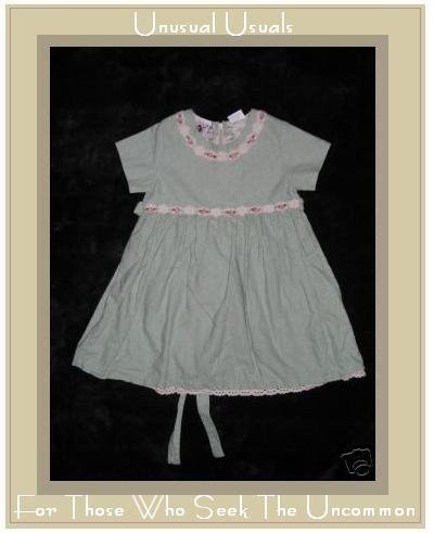 Good Lad of Philadelphia Linen Floral Trim Dress 2T EUC