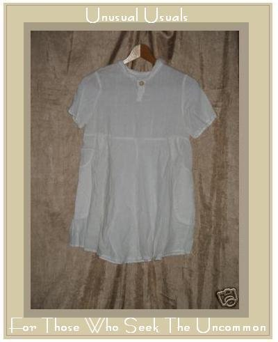 FLAXseeds by Angelheart LINEN Dress Jeanne Engelhart Medium M