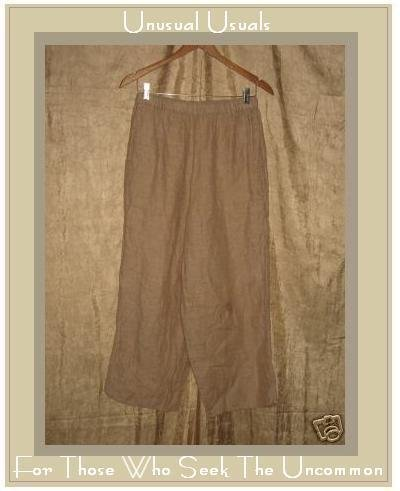 FLAX by Jeanne Engelhart Soft Rose LINEN Floods Pants Small S