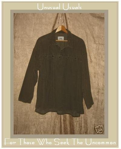 FLAX by Jeanne Engelhart CORDUROY Tunic Shirt Top Large L