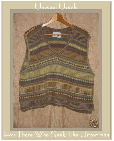 Flax by Angelheart Mosaic Sweater Jeanne Engelhart Medium Large M L