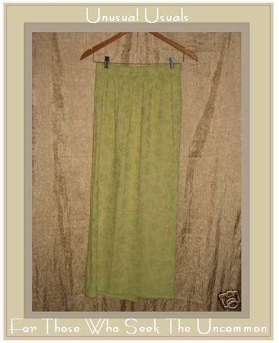 Bryn Walker Boutique Long Sage Rose Skirt Cotton Small S