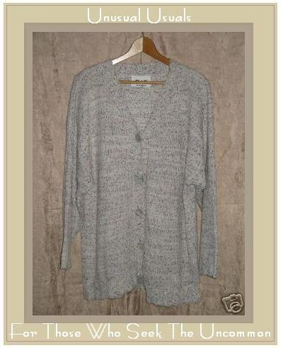 FLAX by ANGELHEART Cardigan Sweater Jeanne Engelhart Small Medium S M