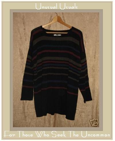 FLAX by Angelheart Wool Tunic Sweater Jeanne Engelhart Small Medium S M