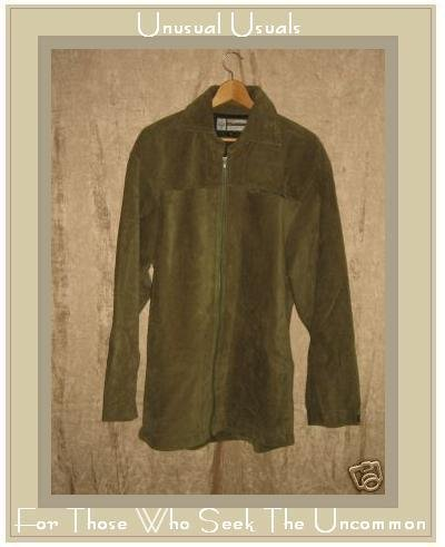 PRANA Soft Earthy Green Corduroy Coat Jacket X-Large XL