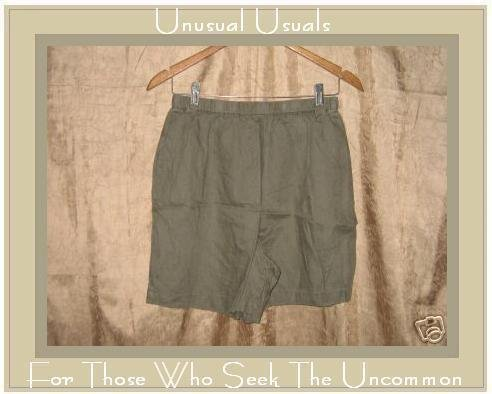 J. JILL JJILL Nice Earthy Gray LINEN Shorts Medium M