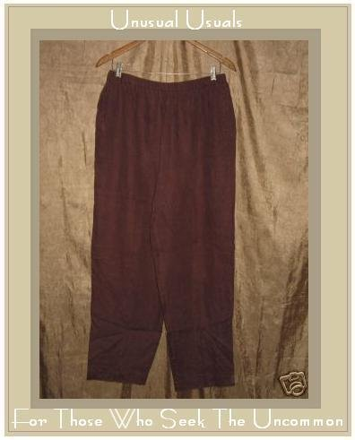 DAVID DART Collection Rich Brown LINEN Pants X-Large XL
