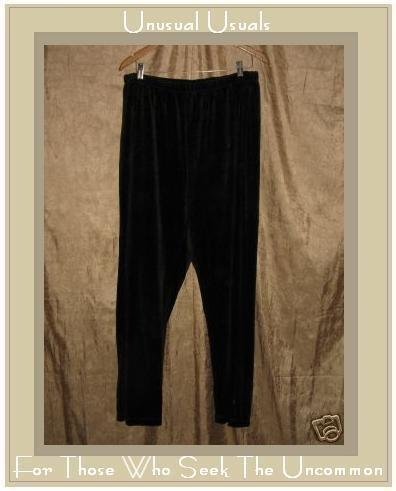 NYL New York Laundry Soft Black Cotton Velour Pants 2X