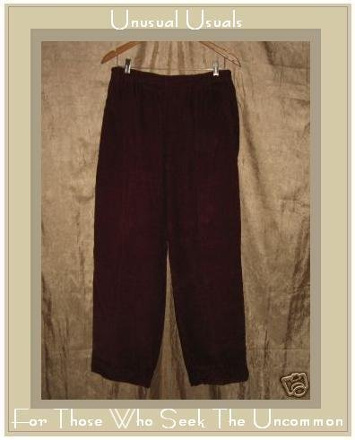 Jeanne Engelhart Flax Berry Cotton Corduroy Pants Large