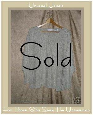 J. JILL Gray Linen Cotton Pullover Sweater Shirt Top PL