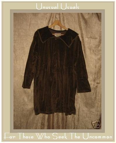 Angelheart Design by Jeanne Engelhart Flax Velour Dress MEDIUM M