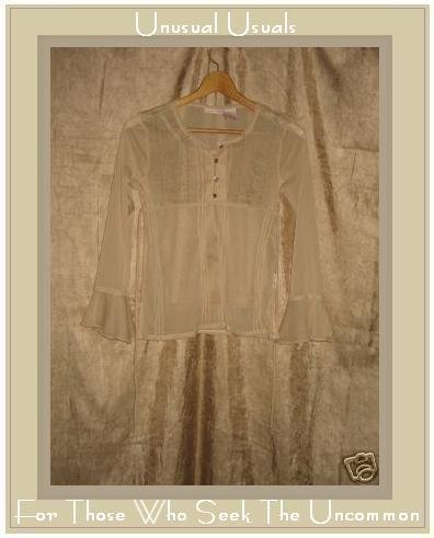 Mary-Kate & Ashley Beige Empire Waist Bell Sleeve Top Shirt 10/12