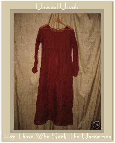 Neesh by D.A.R. Sheer Rust Silk Overdress Small Medium S M