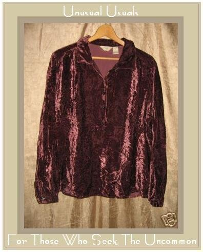 J. JILL Shapely Velvet Tunic Shirt Top X-Large XL