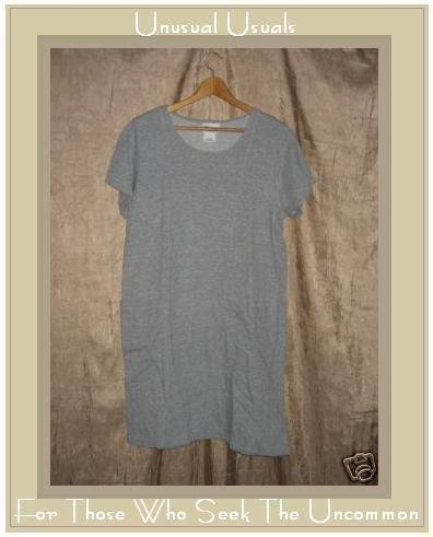 COTTON STUDIO Gray Knit Pullover Tunic Dress Medium M