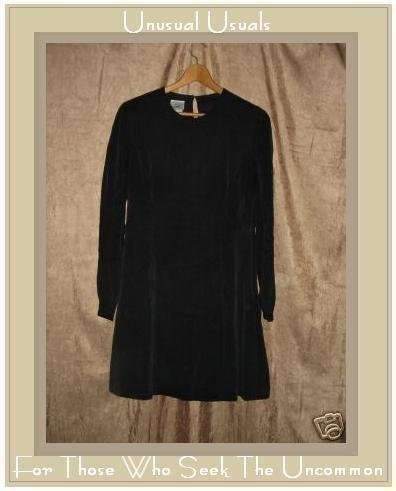 LAURA ASHLEY Black Silk Dress UK 12 EUR 38 US 8 Medium M