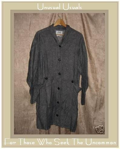 Jeanne Engelhart FLAX linen button Jacket Coat Large L