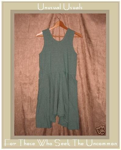 FLAX by Jeanne Engelhart Button Crotch Creation Dress SMALL S