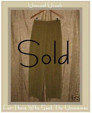 KINDRED SPIRIT Corduroy Textured Tencel Pants Medium M