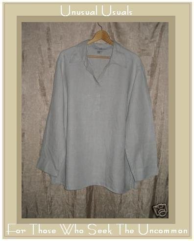 B'B Natural Pullover LINEN Tunic Top Shirt 2X