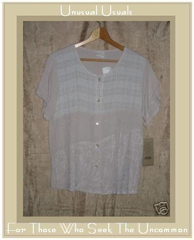 New STAMP Nothing Matches Patchwork Top Shirt Medium M