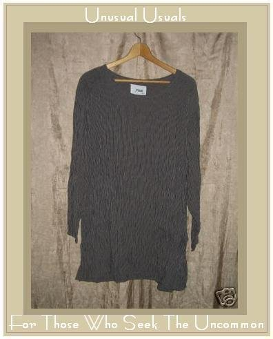 Flax by Jeanne Engelheart Skirted Tunic Top Shirt Small S