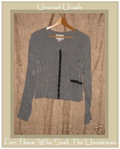 R-Clan by Jeanne Engelhart Flax Cropped Snappy Shirt Top Medium M