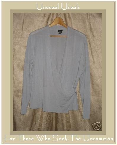 EILEEN FISHER Wrapped Cardigan Top Large L