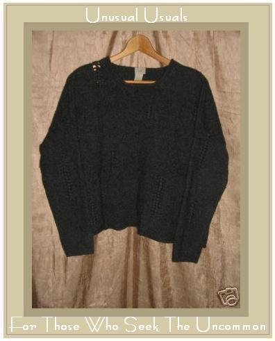 J. Jill Soft Gray Lambs Wool Pullover Sweater Top M L