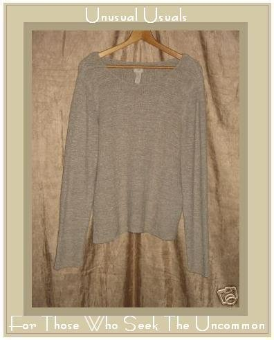 J. Jill Soft Taupe Gray Unusual Knit Pullover Sweater Top Medium
