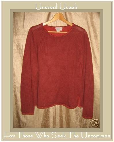Royal Robbin Russet Knit Pullover Sweater Top Medium M