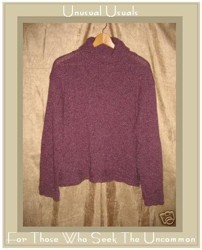 Karen Tate Knits Soft Purple Turtleneck Tunic Sweater M L