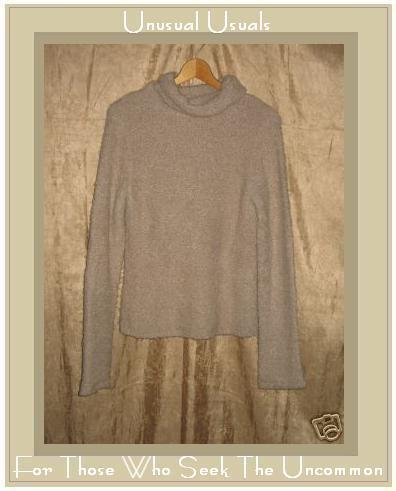 J. Crew Soft Nubby Taupe Turtleneck Tunic Sweater Large L