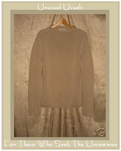 J. Crew Soft Camel Cotton Tunic Sweater Medium M