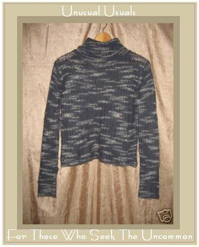 Lux Lux Soft Gray Turtleneck Tunic Sweater Large L