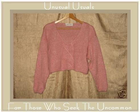 MOD ECRAN Soft Pink Knit Pullover Sweater Top Large L