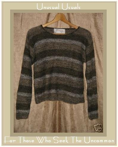 Nuggets Soft Brown Striped Nubby Knit Pullover Sweater Top Small S