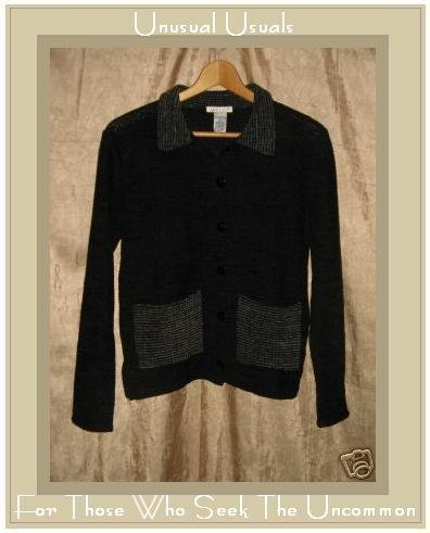 Avalin Soft Black Button Cardigan Top Small S