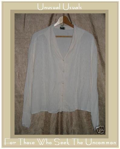 Putumayo Soft Yellow Button Shirt Tunic Top Large L
