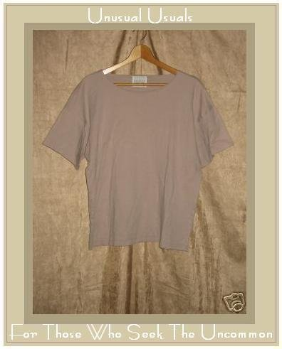 EILEEN FISHER Soft Beige Knit Tee shirt top Large L