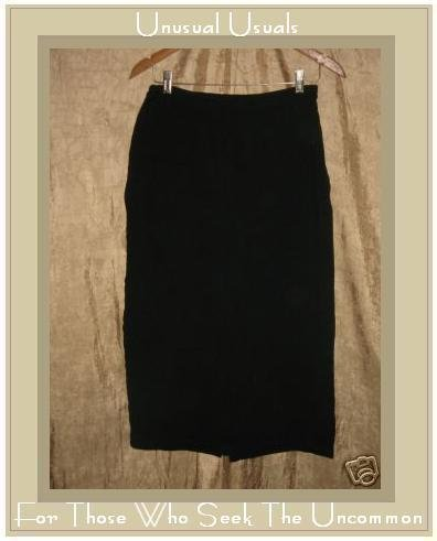 EILEEN FISHER Long Black Knit Skirt Small S