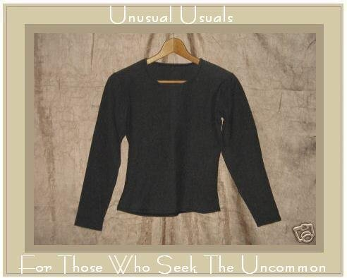 FLAX by Jeanne Engelhart Heavy Cotton Lycra Knit Pullover shirt top M L