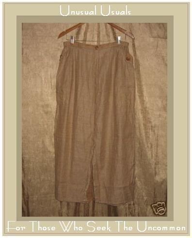 FLAX by Jeanne Engelhart LINEN Succinct Skirt Large L