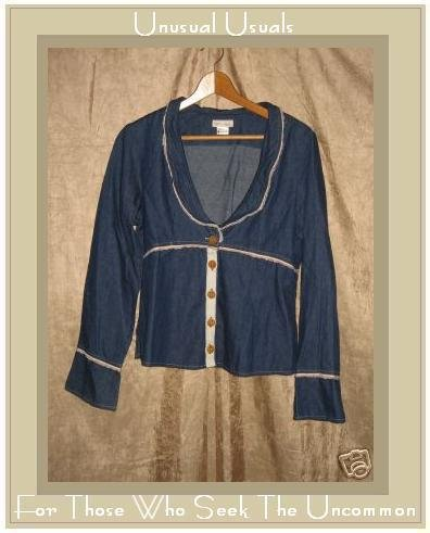 NEESH by D.A.R. Shapely Denim Jacket Top Large L