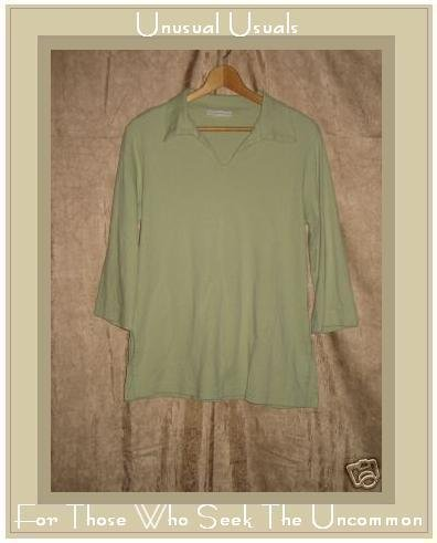 BRYN WALKER Soft Green Knit Pullover shirt top Small S