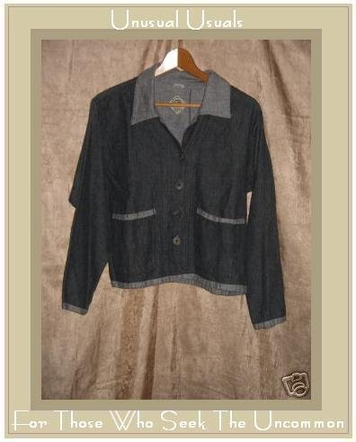 TRIBE Gray Hand Woven Cotton Button Jacket Shirt Top Small S