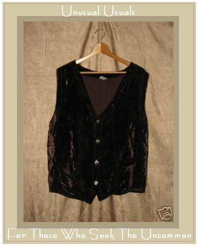 CP SHADES Rich Brown Velvet Vest Top Medium M