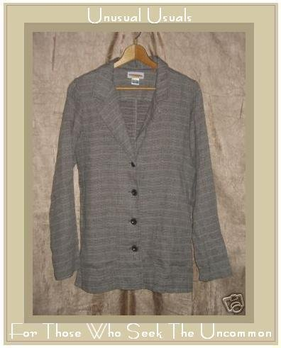 SOLITAIRE Linen Blazer Jacket Top Medium M