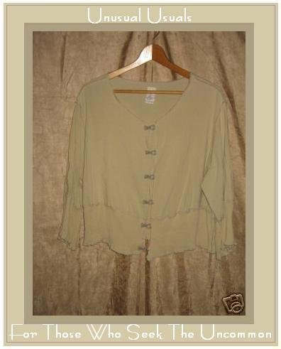 GARB Boutique Cropped Jacket Top Shirt S M